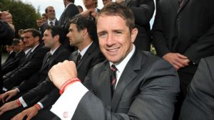 shane-williams-sporting-his-come-on-wales-wristband-662978467