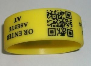 QR silicone wristbands