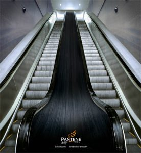 Street marketing: ads on escalators