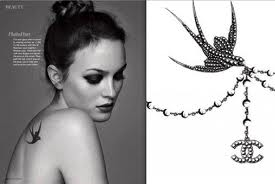 Leighton Meester-Chanel-tattoo