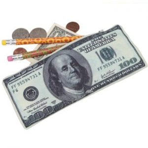 100 dollars pencil case