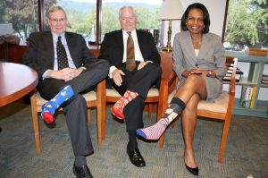 condoleeza-rice-socks-89th-birthday-Georges-Bush