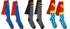 Promotional-socks-the-best-heroes-accessory-Suprman-Batman-Wonderwoman-socks
