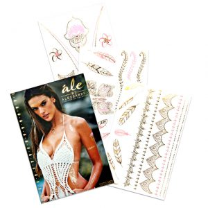 Alessandra-Ambrosio-s-golden-temporary-tattoos-2