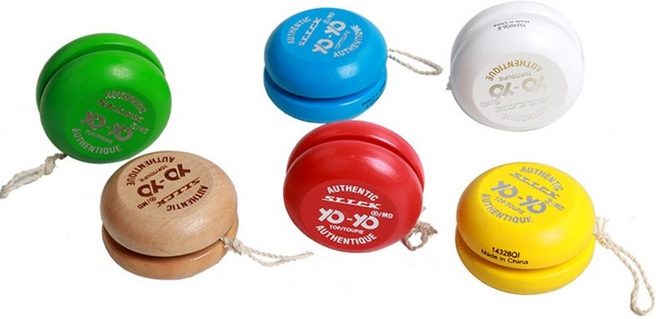 customised wooden Yo-Yo's