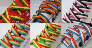 multi colored promotional shoelaces